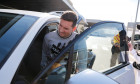 *EXCLUSIVE* Lionel Messi arrives at Barcelona airport after playing for Argentina against Venezuela