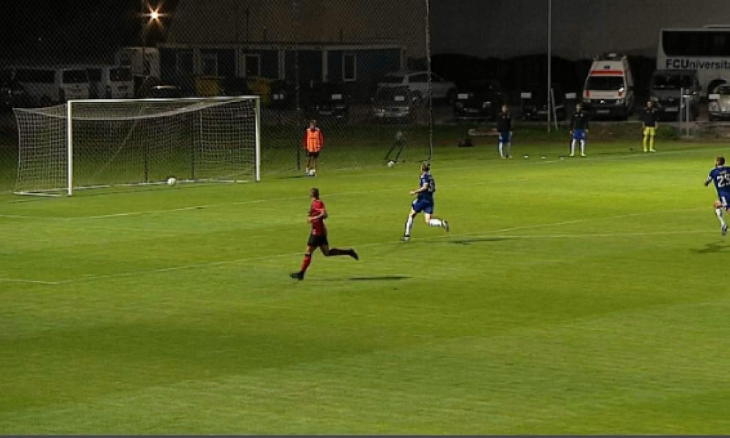 Juan-Francisco Bauza a ratat o ocazie importantă în meciul cu FC U Craiova / Foto: Captură Digi Sport