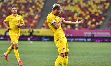 George Pușcaș, după golul marcat în meciul cu Irlanda de Nord / Foto: Sport Pictures