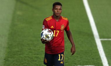 Ansu Fati, în tricoul naționalei Spaniei / Foto: Getty Images