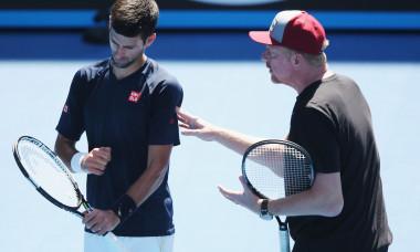 Novak Djokovic și Boris Becker, în perioada în care colaborau / Foto: Getty Images