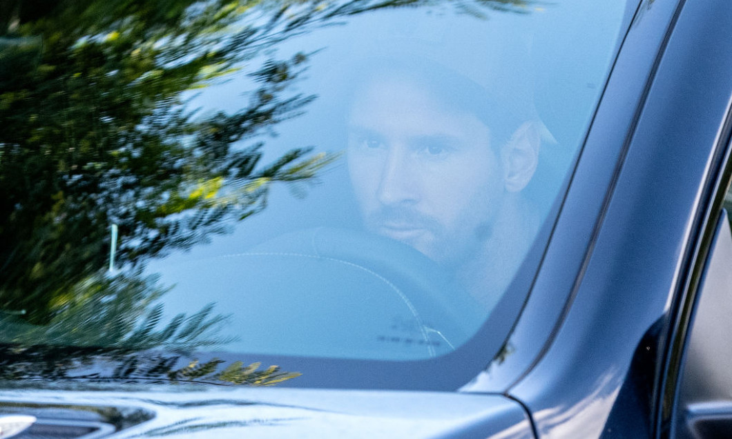 FC Barcelona Players Arrive For Training