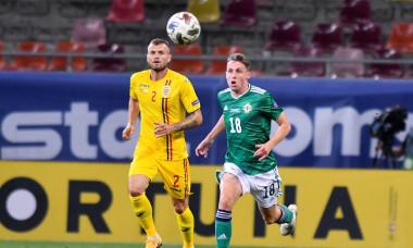 Alexandru Crețu, în meciul cu Irlanda de Nord / Foto: Sport Pictures