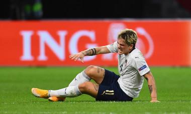 Nicolo Zaniolo, în meciul dintre Olanda și Italia / Foto: Getty Images