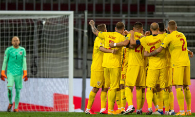 Fotbaliștii naționalei României, în timpul meciului cu Austria / Foto: Sport Pictures