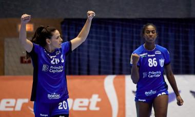 Sportivele de la CSM București, în meciul cu SCM Râmnicu Vâlcea / Foto: Sport Pictures