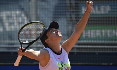 Simona Halep, după finala câștigată la Praga în fața Elisei Mertens / Foto: Getty Images