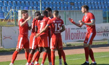 Jucătorii echipei FC Botoșani, în timpul meciului cu Poli Iași / Foto: Sport Pictures