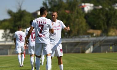 Fotbaliștii de la Rapid, în meciul cu CSM Slatina / Foto: Sport Pictures