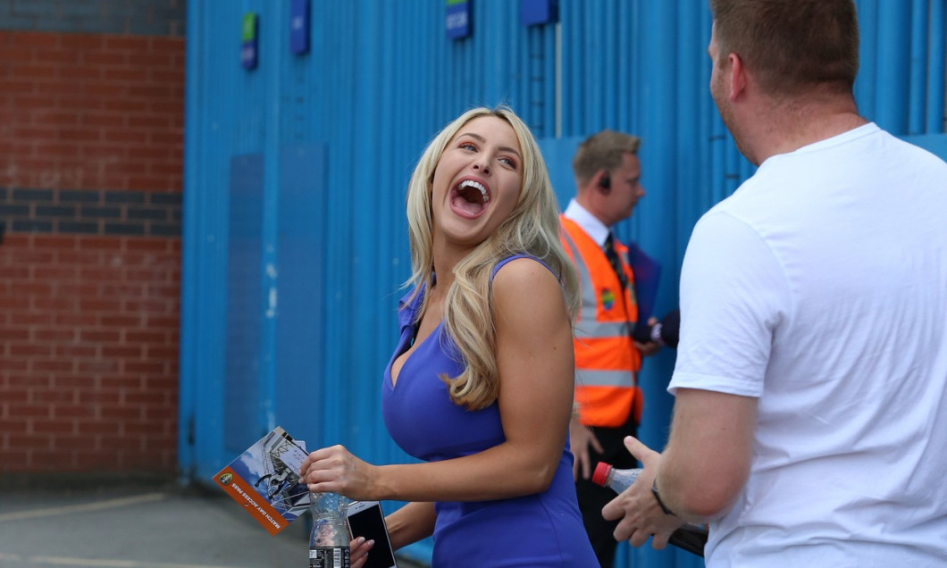 Leeds United TV Presenter Emma Louise Jones Seen Arriving At Elland Road Today Ahead Of The Game Between Leeds United FC and Stoke City FC.
