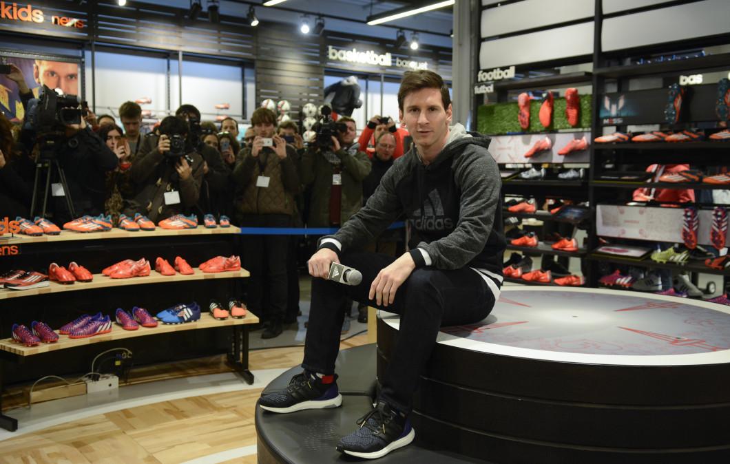 Leo Messi Inaugurates Adidas Store in Barcelona