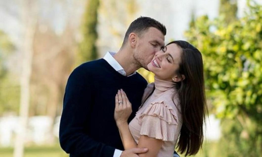 Edin Dzeko și Amra Silajdzic