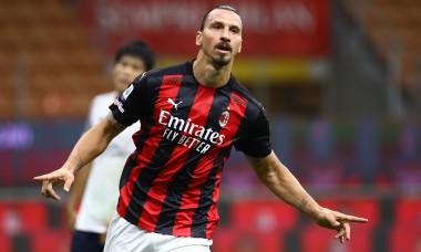 Zlatan Ibrahimovic, după golul marcat pentru AC Milan în meciul cu Bologna / Foto: Getty Images