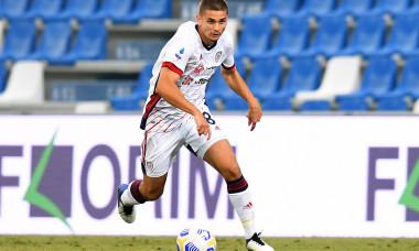 Răzvan Marin, în tricoul lui Cagliari / Foto: Getty Images