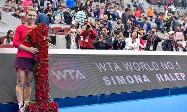 Simona Halep, la Beijing în 2017, când a devenit pentru prima dată liderul ierarhiei WTA / Foto: Getty Images