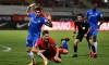 Ovidiu Perianu, faultat în careu în minutul 13 al meciului cu Slovan Liberec / Foto: Sport Pictures