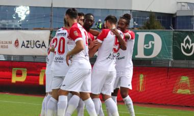 Fotbaliștii de la Hermannstadt, în meciul cu FC Botoșani / Foto: Sport Pictures