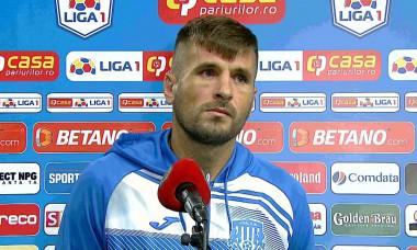 Ovidiu Mihalache, la flash-interviu după Craiova - Poli Iași / Foto: Captură Digi Sport
