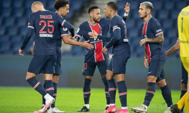 Fotbaliștii de la PSG, în meciul cu Angers / Foto: Profimedia