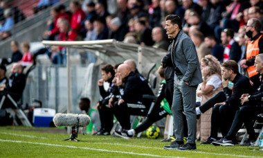 Vejle, Denmark. 27th Sep, 2020. Vejle Boldklub manager Constantin Galca seen during the 3F Superliga match between Vejle Boldklub and FC Copenhagen at Vejle Stadion in Vejle. (Photo Credit: Gonzales Photo/Alamy Live News