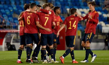 Fotbaliștii Spaniei, în meciul cu Elveția din Liga Națiunilor / Foto: Getty Images