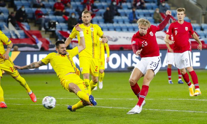 Erling Haaland, în meciul cu România / Foto: Sport Pictures