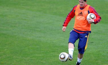 FOTBAL:ANTRENAMENT NATIONALA ROMANIEI INAINTEA MECIULUI CU ALBANIA,PRELIMINARIILE EURO 2012 (30.08.2010)