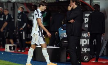 Federico Chiesa, după ce a fost eliminat în meciul cu Crotone / Foto: Getty Images