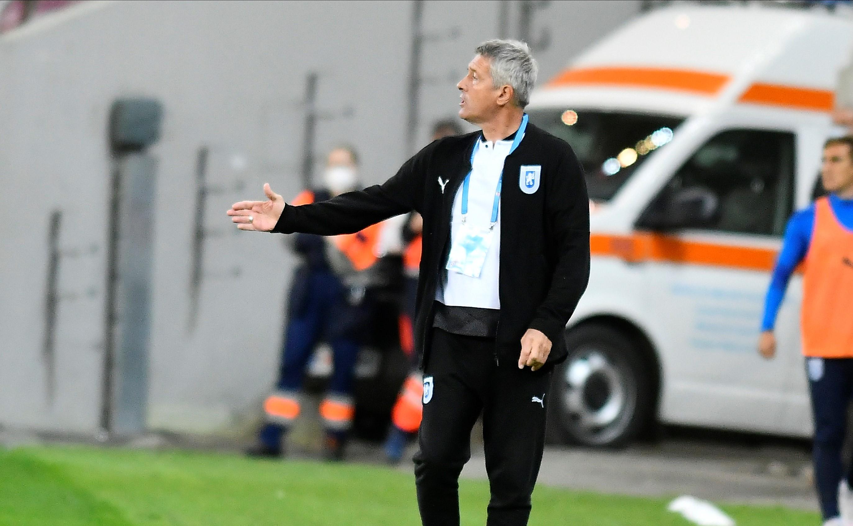 """Cristiano Bergodi, mulțumit după victoria oltenilor în fața lui Dinamo: """"Nu e o rușine să câștigi din penalty"""""""