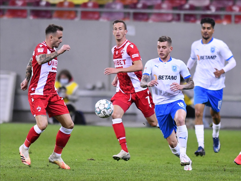 """Dinamo - Universitatea Craiova 0-1. Derby """"nebun"""" pe Arena Națională. Oltenii au 7 victorii din 7 etape"""