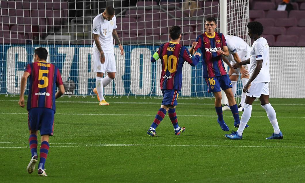 Pedri, după golul marcat pentru Barcelona în meciul cu Ferencvaros / Foto: Getty Images