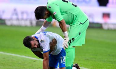 Marius Constantin, accidentat în meciul cu Dinamo / Foto: Sport Pictures