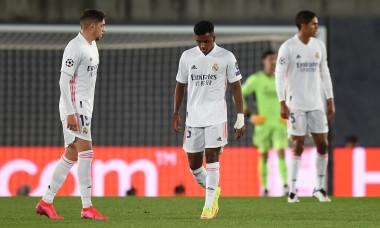 Fotbaliștii lui Real Madrid, în timpul meciului cu Șahtior / Foto: Getty Images