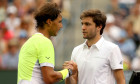 Rafael Nadal și Gilles Simon, după un meci la Indian Wells / Foto: Getty Images