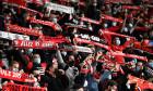 Suporterii lui Rennes, în timpul meciului cu Krasnodar din Champions League / Foto: Profimedia
