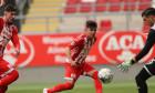 Denis Rusu, marcatorul unicului gol al meciului UTA Arad - Chindia / Foto: Sport Pictures