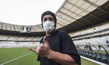Ronaldinho Gaucho Visits Mineirao Stadium After Being Released from Prison in Paraguay Amidst the Coronavirus (COVID - 19) Pandemic