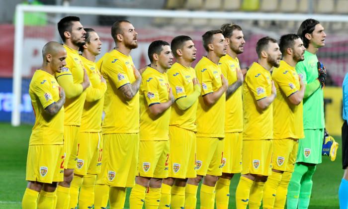 Fotbaliștii primei reprezentative a României, înaintea meciului cu Austria / Foto: Sport Pictures