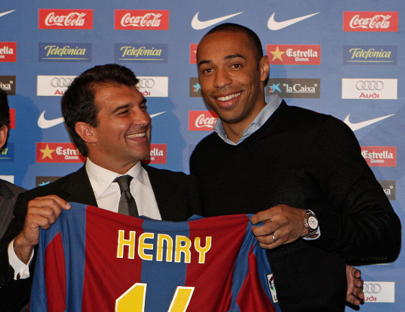 Thierry Henry Signs For Barcelona