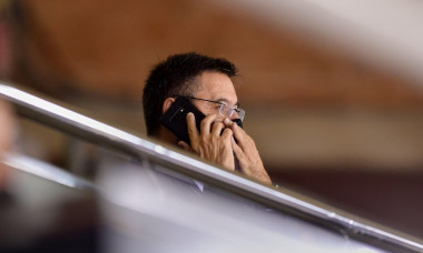 Josep Maria Bartomeu during the Turkish Airlines EuroLeague match between FC Barcelona and CSKA Moscow CAB at Palau Blaugrana on October 01, 2020 in Barcelona, Spain.