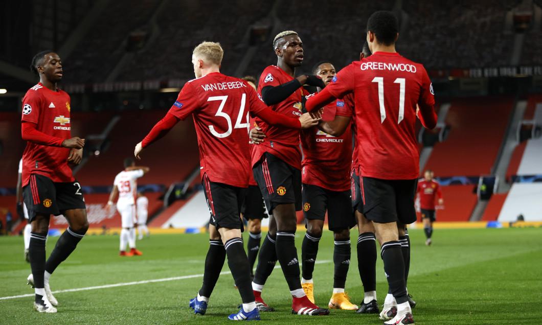 Fotbaliștii lui Manchester United, în meciul cu RB Leipzig / Foto: Getty Images