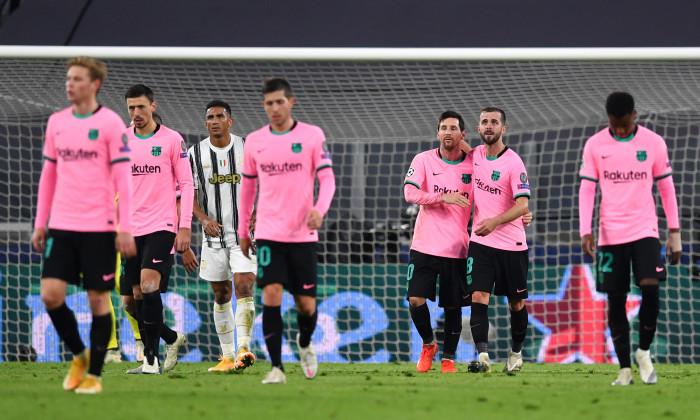 Fotbaliștii Barcelonei, în meciul cu Juventus / Foto: Getty Images