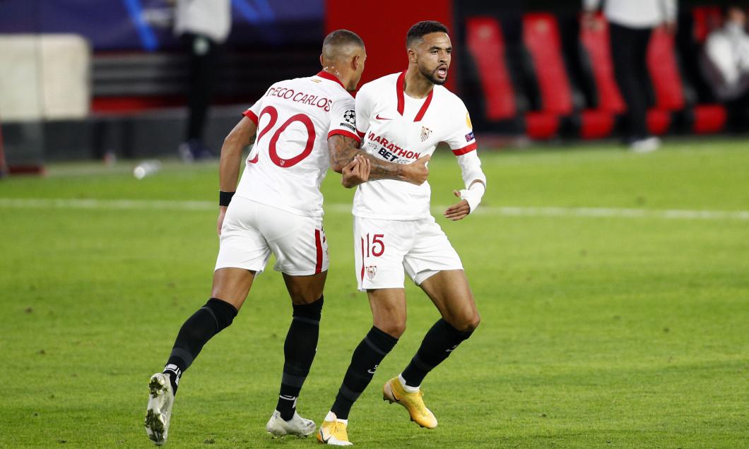 Yousseff En-Nesyri, atacantul Sevillei, în meciul cu Krasnodar din grupele Champions League / Foto: Getty Images