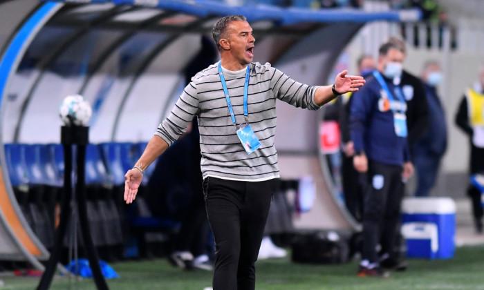 Daniel Pancu, antrenorul lui Poli Iași, în meciul de la Craiova / Foto: Sport Pictures