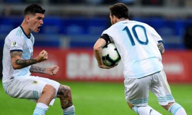 Lionel Messi și Rodrigo de Paul, în tricoul naționalei Argentinei / Foto: Getty Images