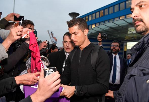 Footballers arrive at Zurich Airport, Switzerland - 09 Jan 2017
