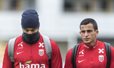 Joshua King și Omar Elabdellaoui, fotbaliștii naționalei Norvegiei / Foto: Getty Images