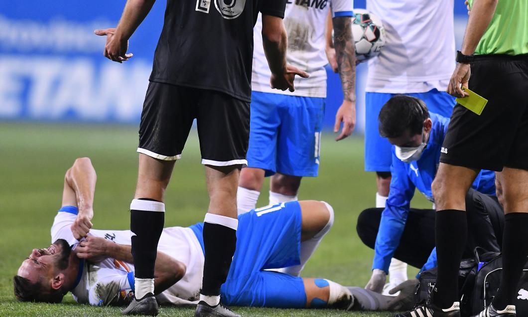 Elvir Koljic, accidentat în meciul dintre Craiova și Poli Iași / Foto: Sport Pictures