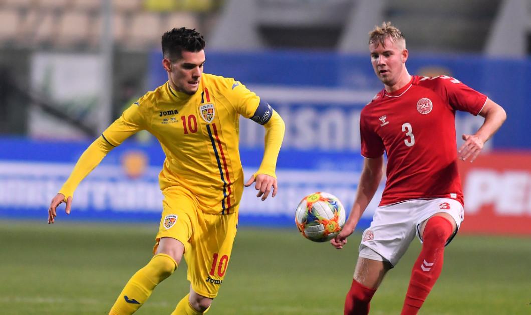 Ianis Hagi, în meciul cu Danemarca / Foto: Sport Pictures