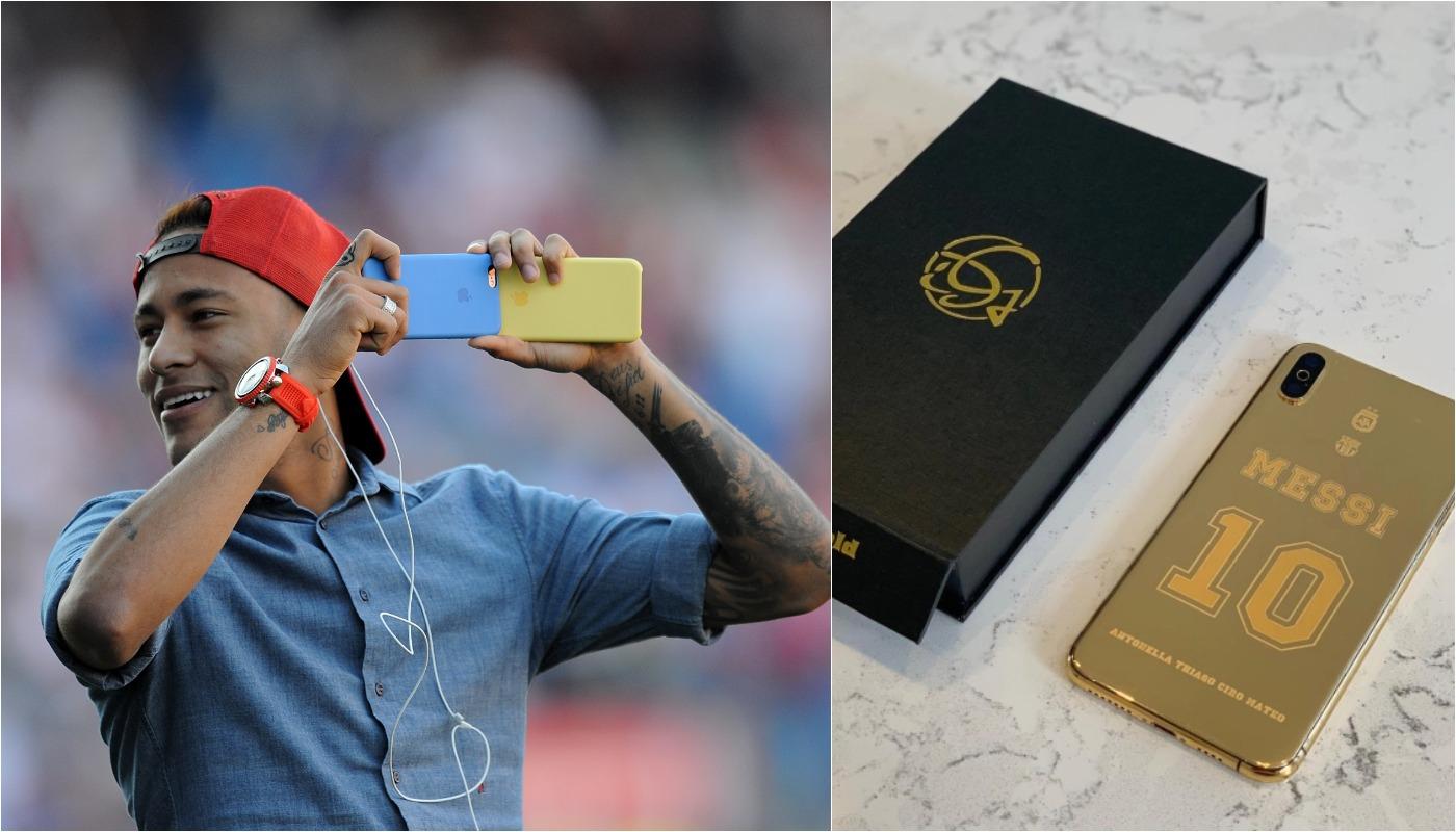 Ce review-uri au lăsat Messi și Neymar după ce și-au cumpărat telefoane placate cu aur, de 5.500 de euro bucata